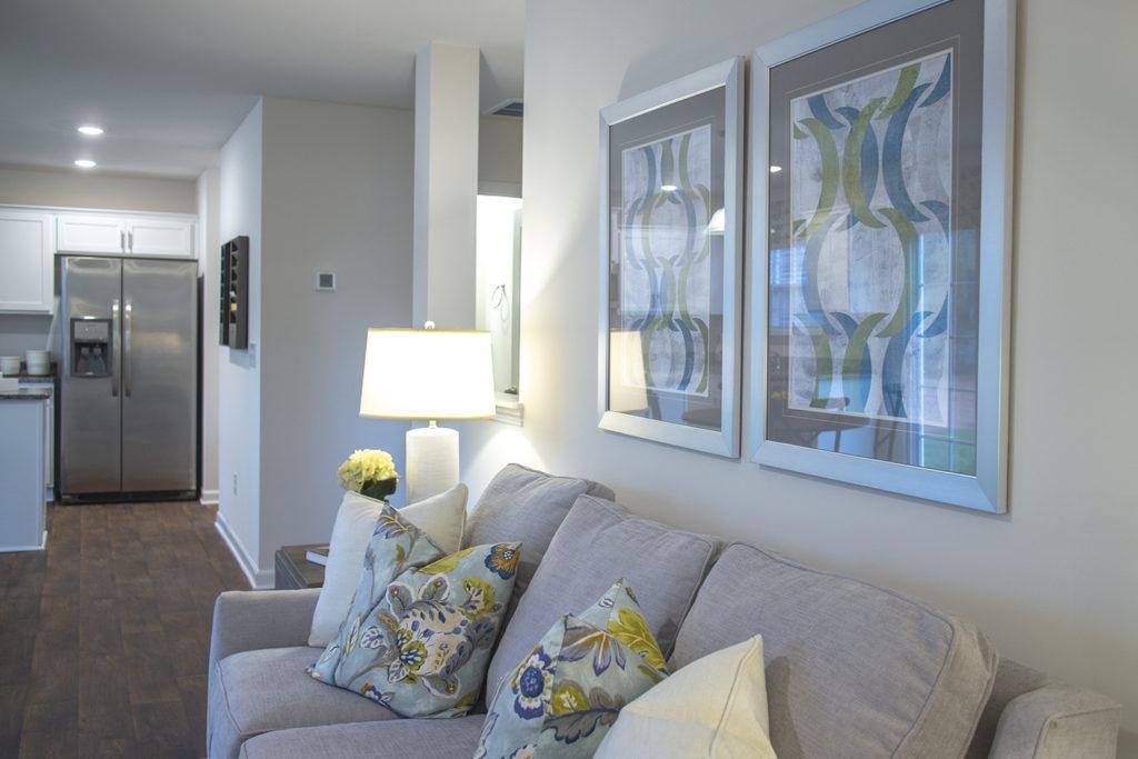 Living room in Ellington home
